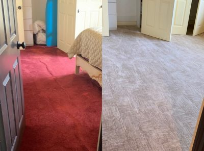 carpet installation before and after